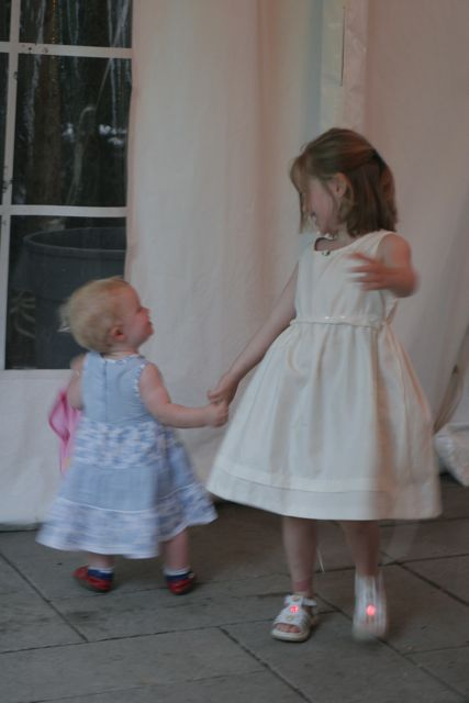 Hanna and Allison dancing at our wedding